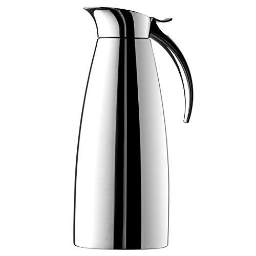 Emsa 502489 ELEGANZA Pichet isotherme, fermeture easy open, acier inoxydable, 1L