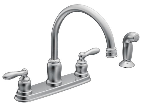 Moen CA87888 High-Arc Kitchen Faucet from the Caldwell Collection, Chrome (Moen 2 Handle Kitchen Faucet compare prices)