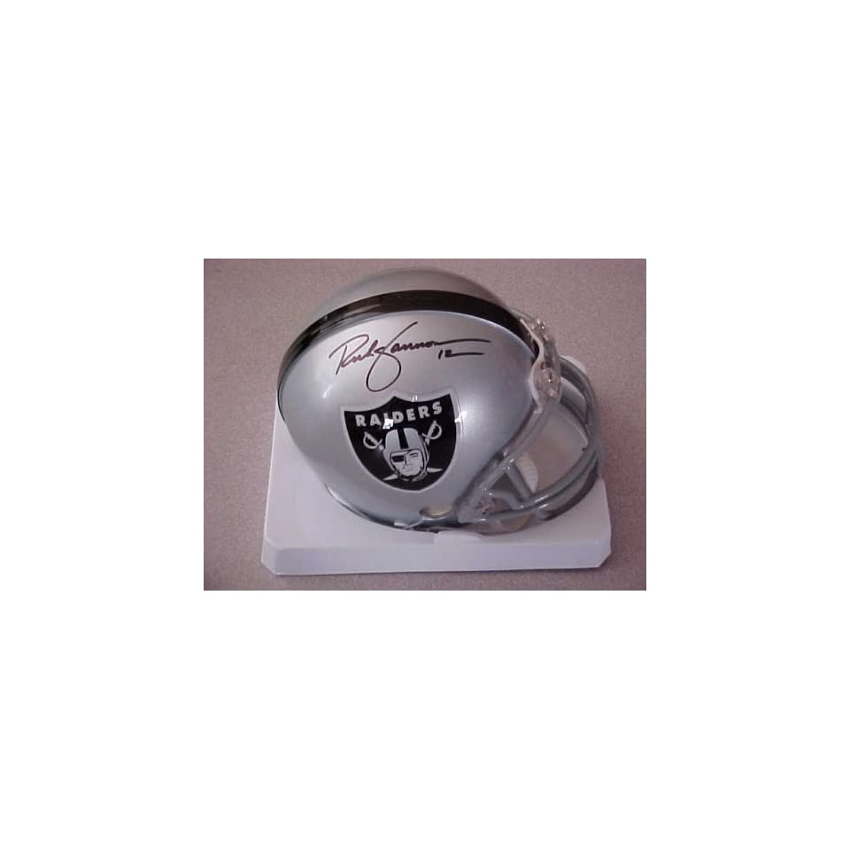Rich Gannon Hand Signed Autographed Oakland Raiders Riddell Football Mini Helmet