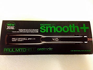Paul Mitchell Express Ion Smooth+ Protools 1.25 Flat Iron Flips Waves Smoothing (Black) (Smoothing Iron compare prices)