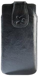 Original Suncase Echt Ledertasche für Sony Xperia T in wash-schwarz
