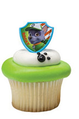 PAW Patrol Ruff Ruff Rescue 12 Cupcake Rings- Rocky ONLY - 1