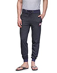 TSX Mens Cotton Trackpant TSX-PYJAMA-RIB-DARKGREY-BLUE-S