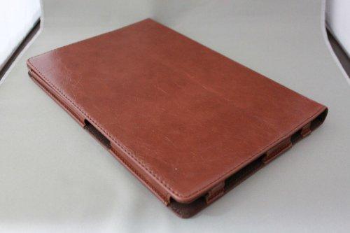 Homu HomuXperia Tablet Z SO-03E全6色PUレザーケース PUレザーカバー エクスペリアタブレットZ レザーケースレザーカバースタンド機能付/SGP312JP (ブラウン)(22-5)
