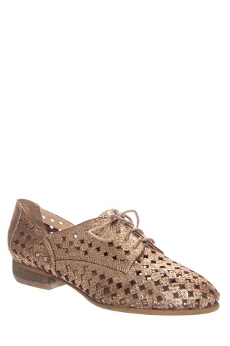 Scamp Perforated Oxford Flat Shoe