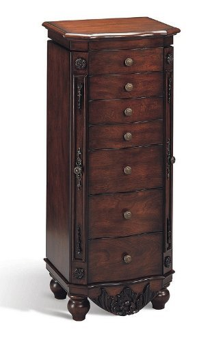 Read About Coaster 900065 Classic Style Jewelry Armoire, Cherry