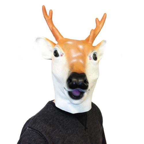 Deluxe Latex Animal Mask - Deer