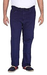 Xmex Men's Soft Denim Jeans (Kr-5032Ink-42, Royal Blue, 42)