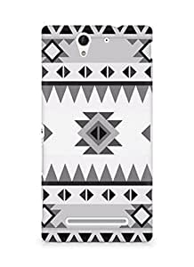 Amez designer printed 3d premium high quality back case cover for Sony Xperia C3 D2502 (Pattern Classic)