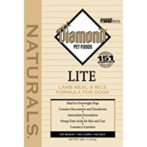Diamond Naturals Dry Food for Adult Dogs, Lite Lamb and Rice Formula, 30 Pound Bag