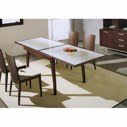 Calligaris Enterprise Glass Top Dining Table - CS/368-GXW-P128