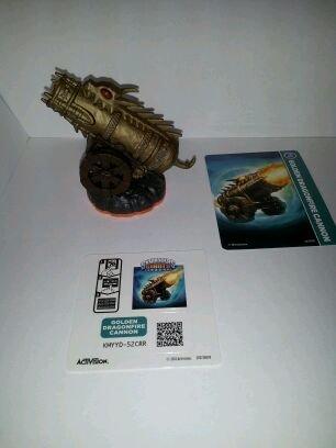 Skylanders Giants LOOSE Figure Golden Dragonfire Cannon [Includes Card & Online Code] - 1