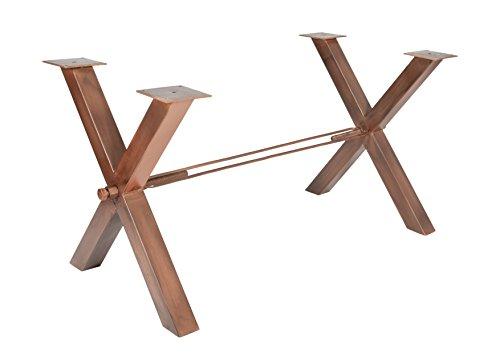 Tischgestell-antiksilber-Eisen-antikbraun