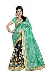 Radhe Krishna Creation Women's Net Saree(RKC08,Turquoise)