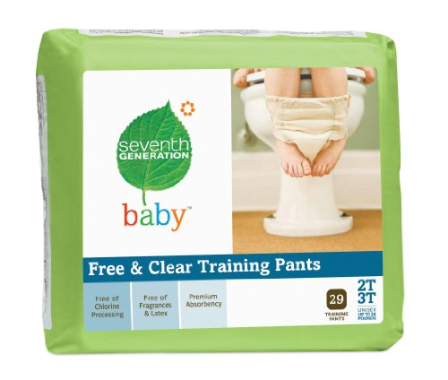 Seventh Generation Free and Clear Training Pants, 2T-3T, 29 Count (Pack of 4)