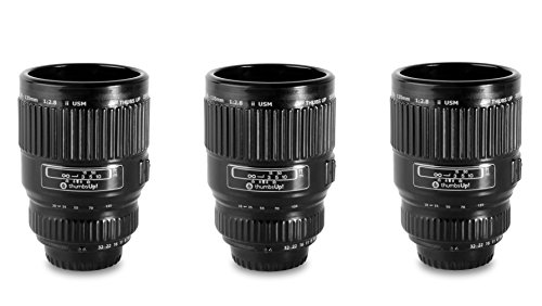 Thumbs Up Camera Lens Shot Glasses, Set Of 3