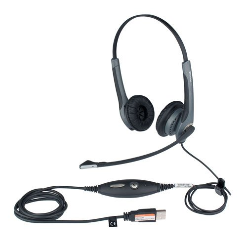 Jabra Gn2000 Usb Duo Ms Lync Optimized Corded Headset For Softphone