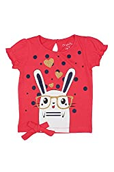 Chirpie Pie by Pantaloons Girl's Round Neck T-Shirt (205000005610446, Pink, 9 - 12 Months)