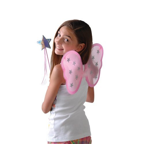 Constructive Playthings Pink Princess Wing and Magic Wand Set