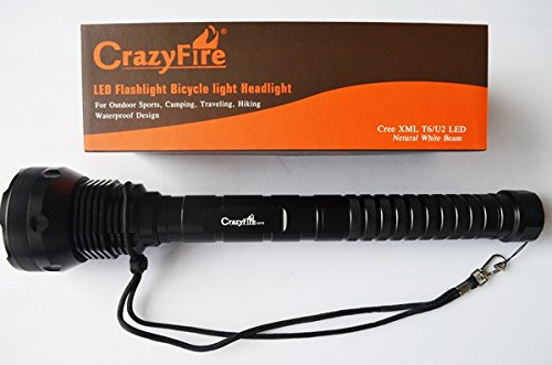 Crazyfire Brand New 15 Cree Xml T6 Super Bright Led Flashlight Torch With 17200 Lumen Max. Waterproof 5 Modes