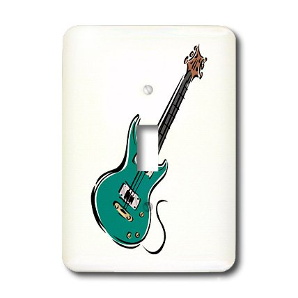 Lsp_164413_1 Susans Zoo Crew Music - Teal Electric Guitar Music Graphic - Light Switch Covers - Single Toggle Switch