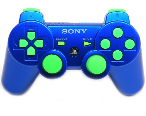 Ps3 Blue/green Rapid Fire Modded Controller 30 Mode for COD Ghost Black Ops 2 Cod Mw3 turtle beach ear force cod mw3 foxtrot blk universal wired gaming headset for playstation 3