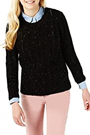 Angel Cable Knit Flecked Jumper with Wool [T74-2048A-S]