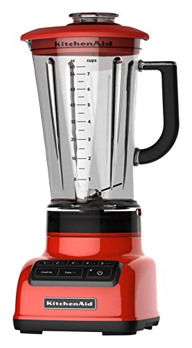 KitchenAid KSB1575HT 5-Speed Diamond Blender with BPA-Free Pitcher, 60 oz, Hot Sauce