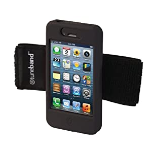 TuneBand for iPhone 4 / iPhone 4S, Premium Sports Armband with Two Straps and Two Screen Protectors (Black)