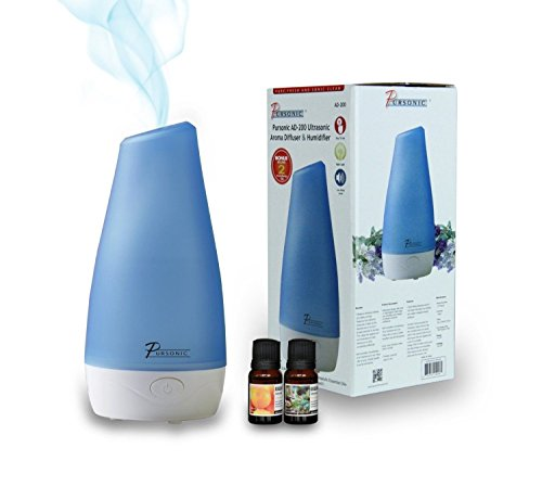 Pursonic Ad200 Ultrasonic Oil Aroma Diffuser And Humidifier With 2 Scented Oils