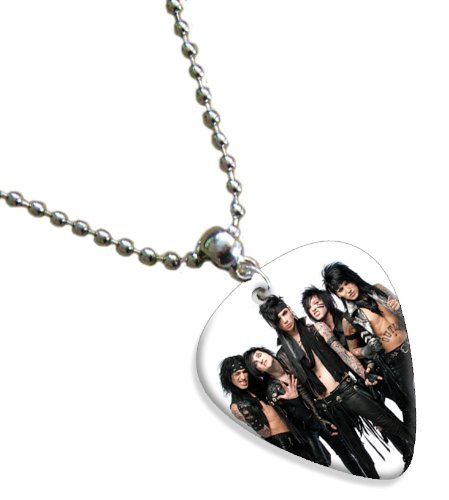 Black Veil Brides Double Sided Chitarra Plettro Plettri Pick Chain, Collana Necklace