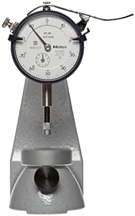 Mitutoyo 7051 Dial Upright Gauge, 0-10mm Range, 0.01mm Resolution, +/- 0.02m Accuracy, 20mm Workpiece Height