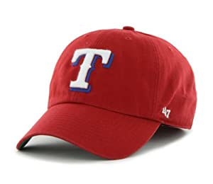Texas Rangers 47 Brand Red The Franchise Fitted Hat Cap by