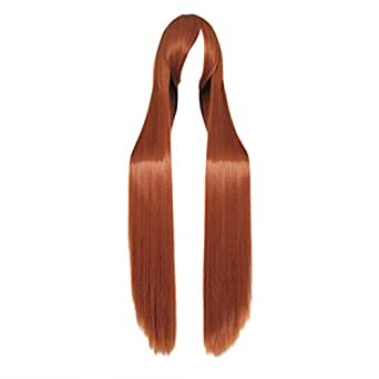 Dream2reality Cosplay_Bleach_Orihime Inoue_Long_100cm_mixed orange_Japanese high temperature resistant fiber wigs