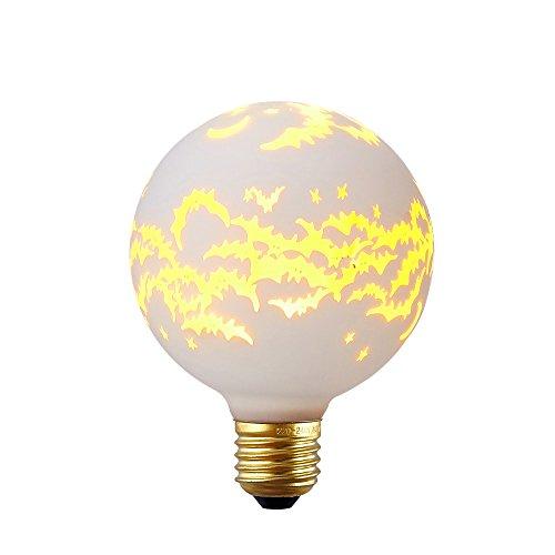 Kiven Decorative Bulbs Bat Picture Led Light Bulb Novelty Lights