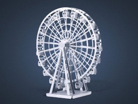 MobileSharp® Metal Earth 3D Laser Cut Model - Ferris Wheel - 1