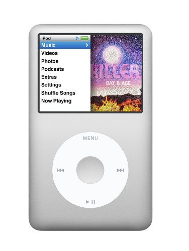Apple iPod classic 160 GB Silver (7th Generation) NEWEST MODEL by Apple