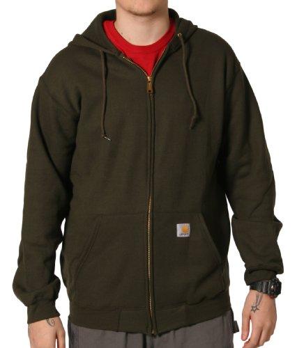 Carhartt K122 Hooded Sweatshirt Green Mens Hoodie Top