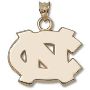 North Carolina Tar Heels 5 8 NC Pendant - 14KT Gold Jewelry by Logo Art
