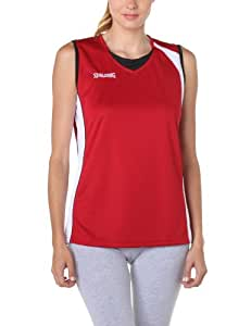 Spalding 4her Tank Top Maillot basket-ball femme Rouge/Blanc/Noir XS
