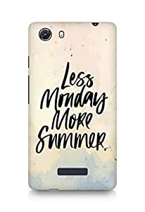 AMEZ less monday more summer Back Cover For Micromax Unite 3