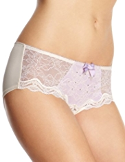Limited Collection Floral Lace With Sparkle Shorts