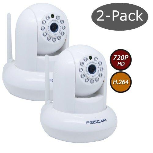 Foscam Fi9821W V2 2-Pack 1.0 Megapixel 1280 X 720P Wireless Ip Camera - White