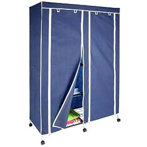 doppelter stoff kleiderschrank auf rollen ca 165 x 118 cm. Black Bedroom Furniture Sets. Home Design Ideas