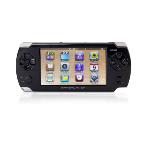 """Afunta Jxd A1000 4.3"""" Lcd Portable Game Console Media Player W/ Camera/Av-Out/Tf - Black (4Gb)"""