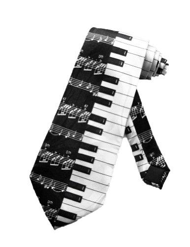 cravate pour homme steven harris notes de pianos noir et blanc taille unique accessories. Black Bedroom Furniture Sets. Home Design Ideas