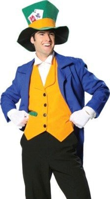 Mad Hatter Costume - Medium - Chest Size 40-42