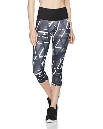 adidas Leggings Wo Hr 3 grau/schwarz/weiß