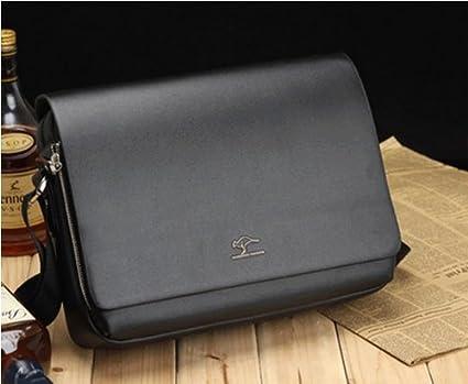 Fashion Kangaroo Mens Leather Crossbody Shoulder Messenger Bag Briefcase 6