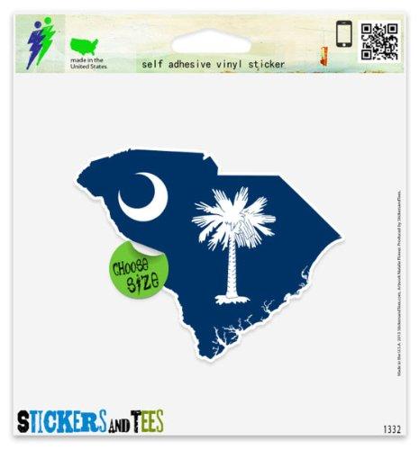 South Carolina Map Flag Car Sticker Indoor Outdoor 5
